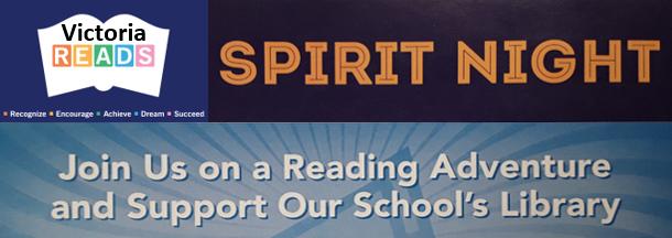 Victoria Reads Spirit Night