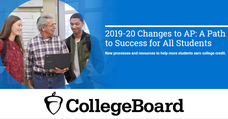 College Board changes.