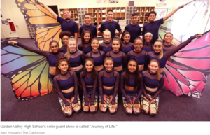 Golden Valley High School color guard gearing up to perform on the world stage