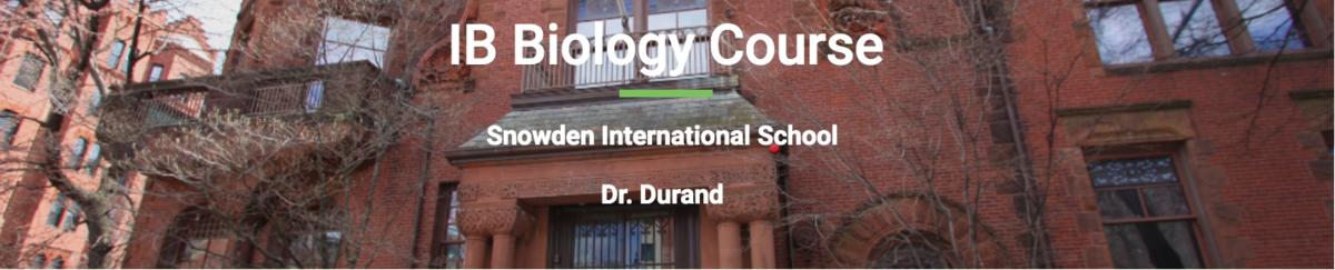 IB Biology Dr. Durand's Website