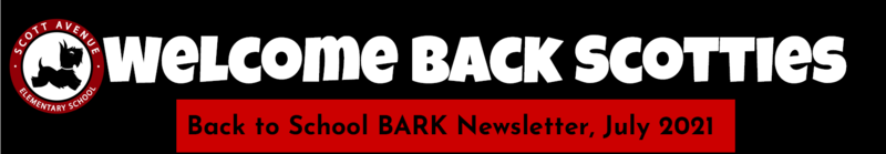 Image of the 2021-2022 Welcome Back BARK Newsletter