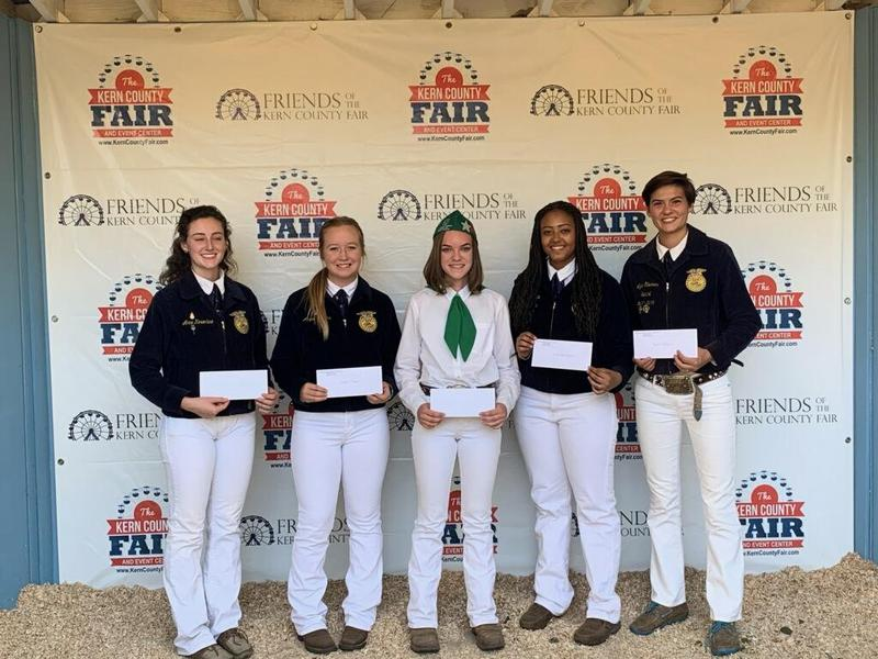 Kern Valley High School students receive scholarships at the Kern County Fair