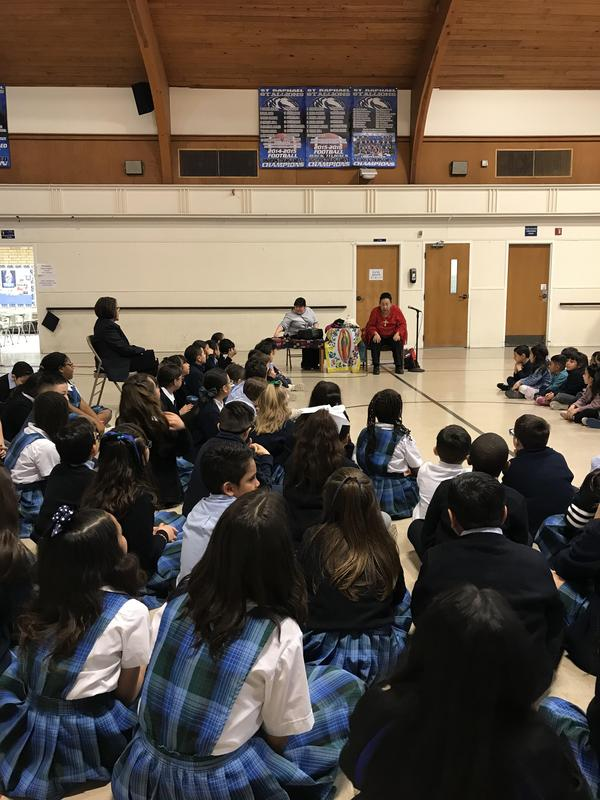 Rosa Guerrero came speak to our Pk-4th Graders for Catholic Schools Week. Featured Photo