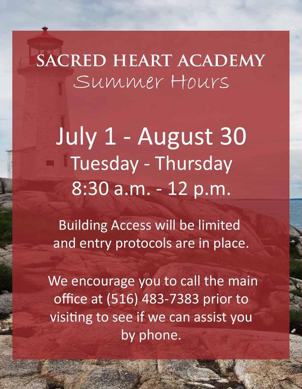 Summer Hours at Sacred Heart Academy Featured Photo