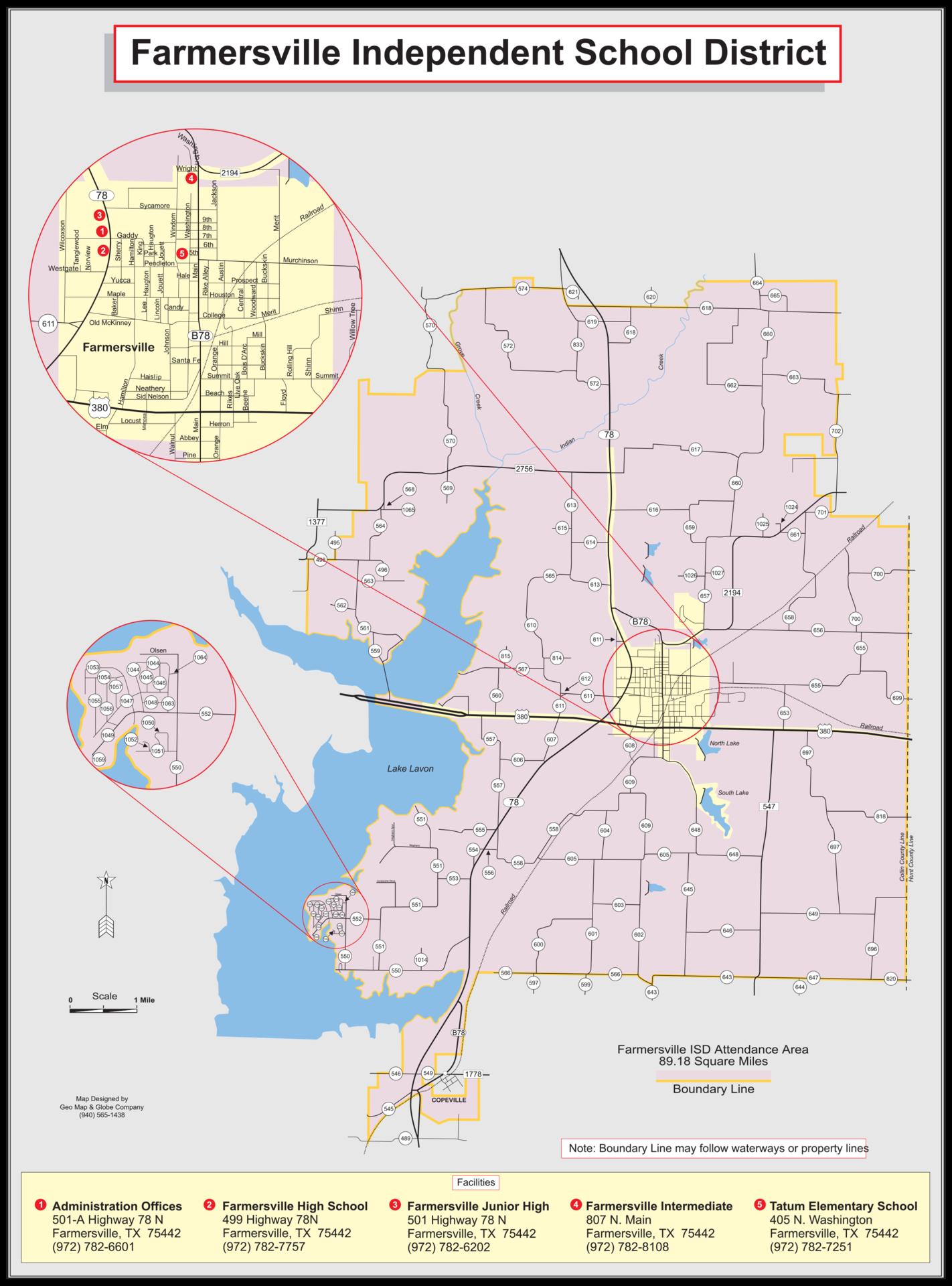 Farmersville ISD District Map