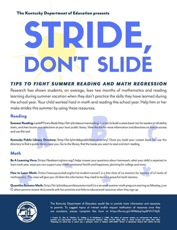 Stride, Don't Slide Program Featured Photo