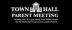 Town Hall Rocky Fork Middle School Feb. 10 6 p.m.