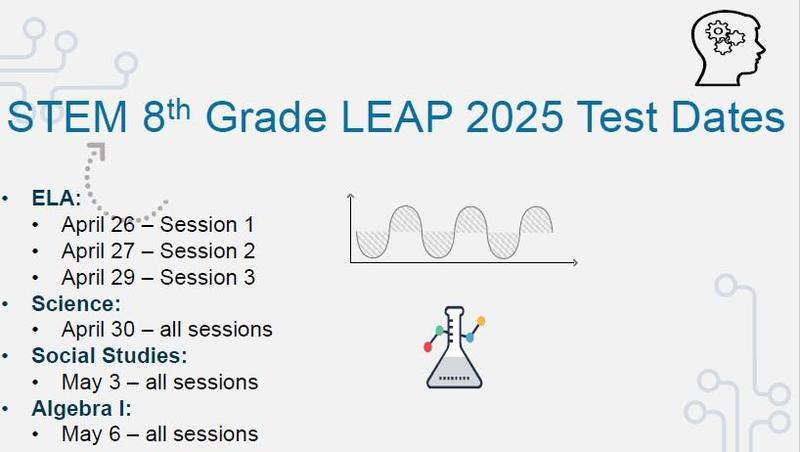 LEAP Test Dates for 8th grade Thumbnail Image