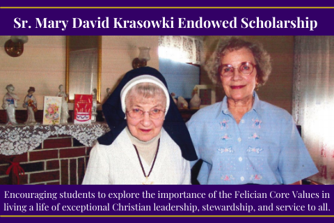 image for the Sr. Mary David Krasowski scholarship