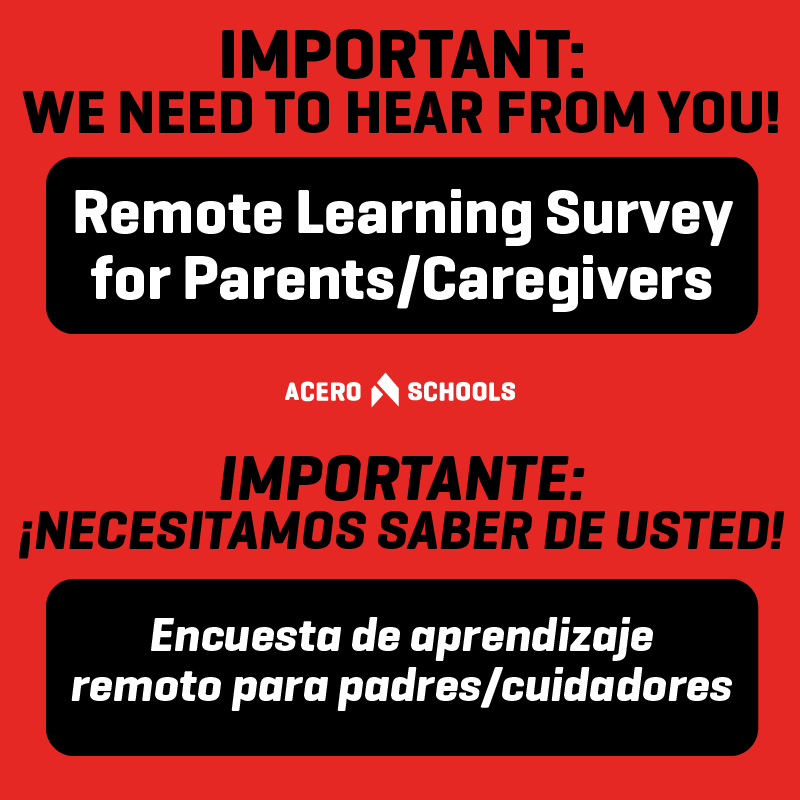 Click the link in the text for access to the parent survey #2 meant to understand how parents are feeling about remote learning, tech and tech support and communications from your school and network.