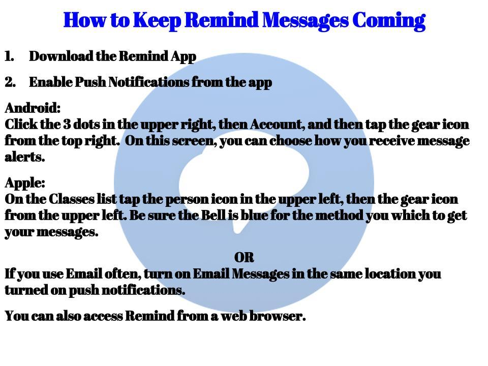 How to Keep Remind Messages Coming