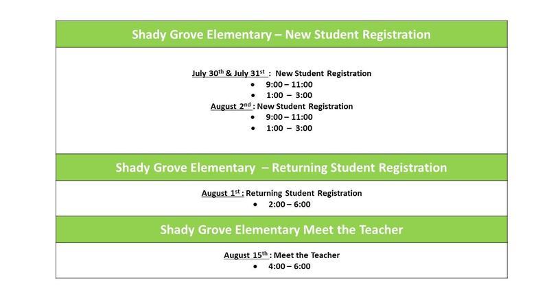 Registering Students at Shady Grove Elementary Thumbnail Image