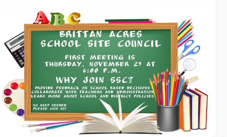 School Site Council Meeting Thursday, November 29 @ 6:00 p.m. Featured Photo