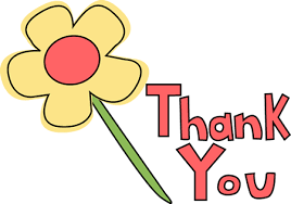 Yellow flower with words in red reading THANK YOU!