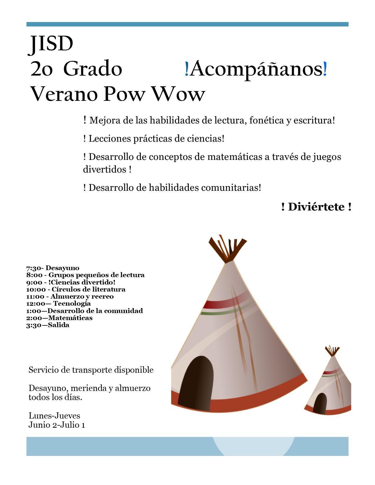 summer powwow flyer spanish