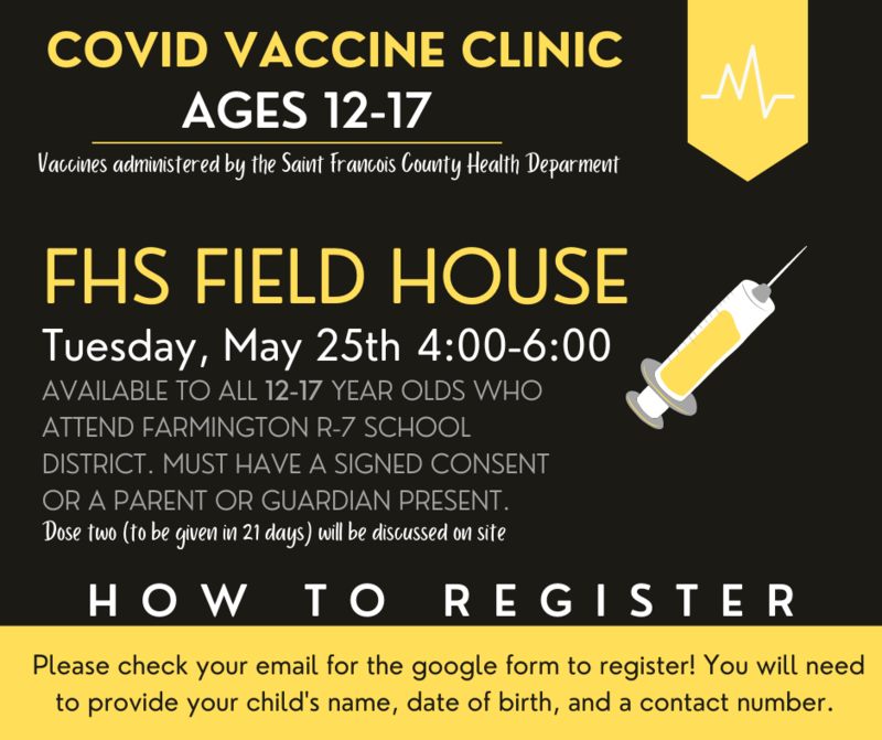 COVID Vaccine Clinic Ages 12-17