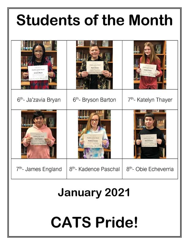Student of the Month- January 2021 Featured Photo