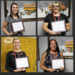 Composite of employees of the month with certificates: Heather Hopwood, April Castillo, Taylor Rodgers, and Marjie Bailey.