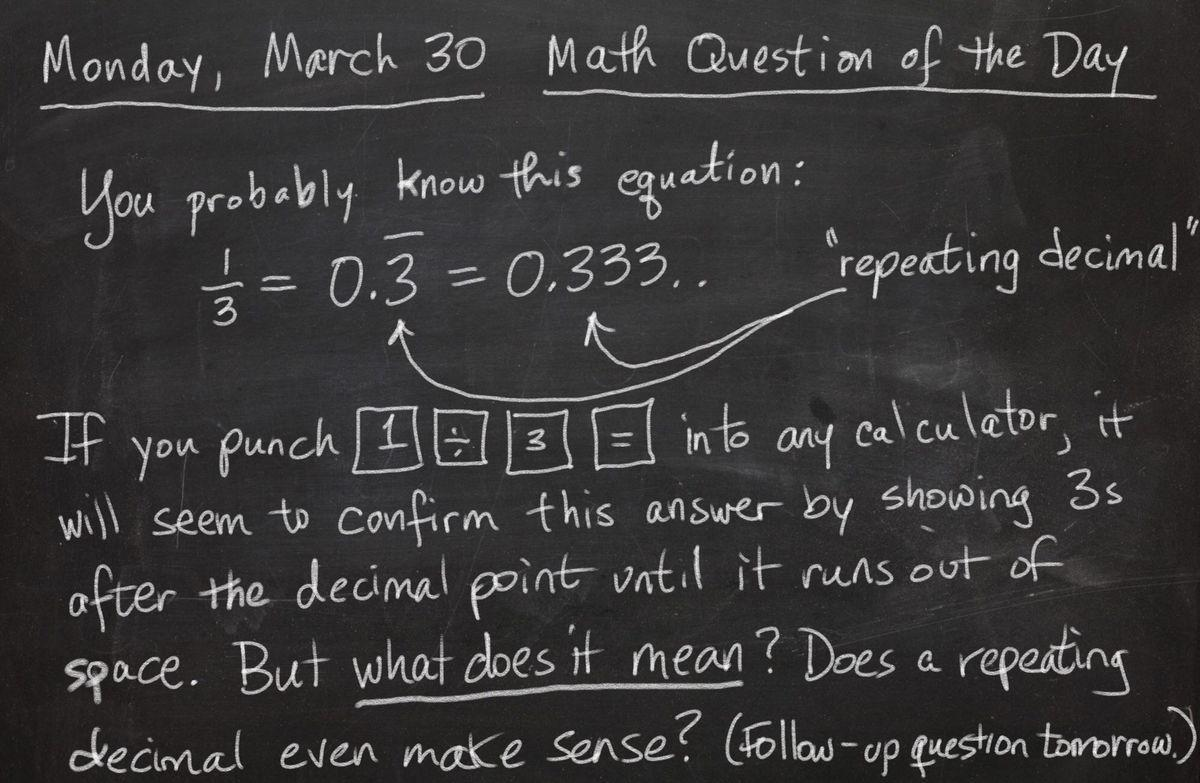 Math Musings 1