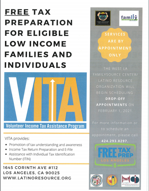 Free Tax Preparation for Eligible Low Income Families and Individuals Thumbnail Image