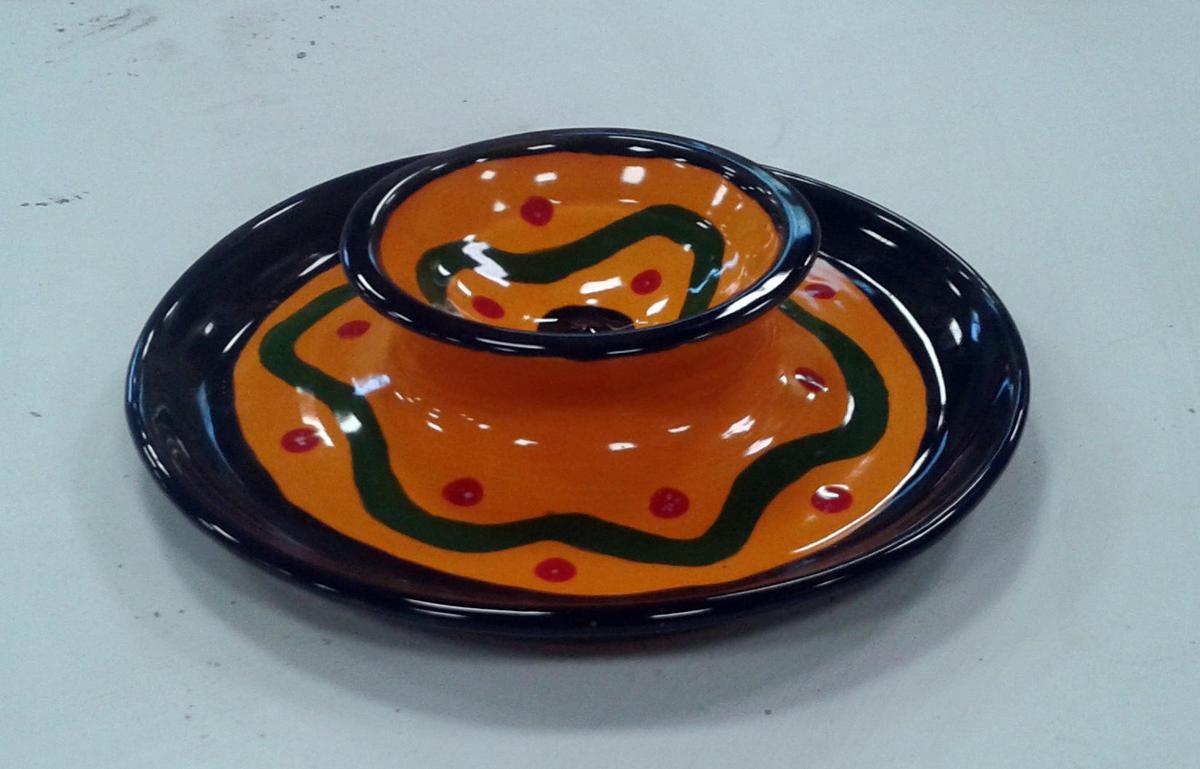 pottery dish