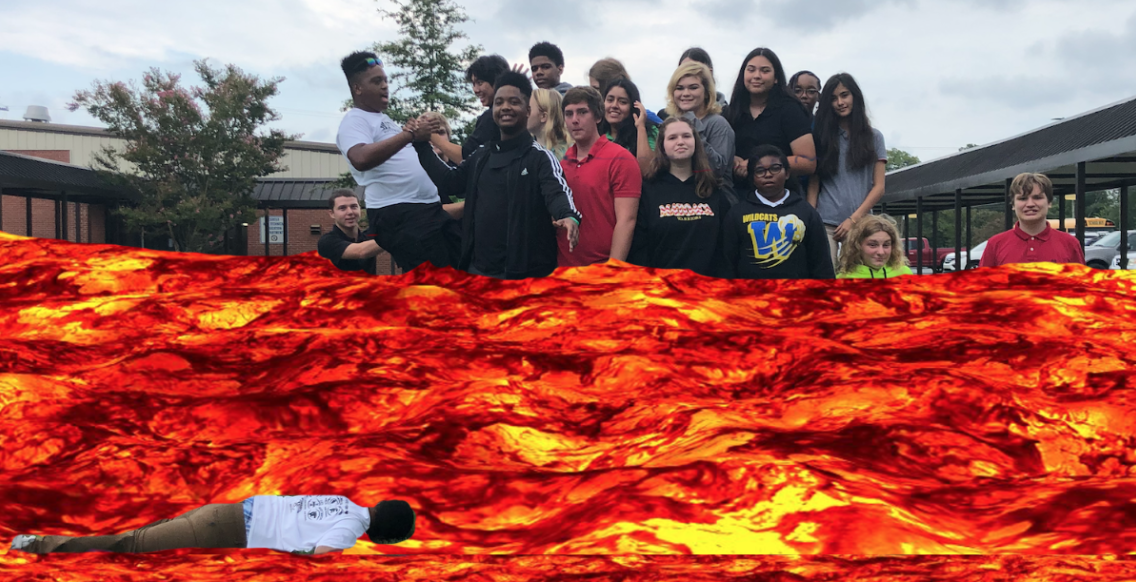 AIG Group photo... themed... by them... Lava's on the Ground