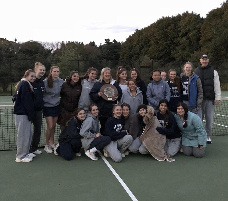 Girls Varsity Tennis Team Wins Division Championship! Featured Photo