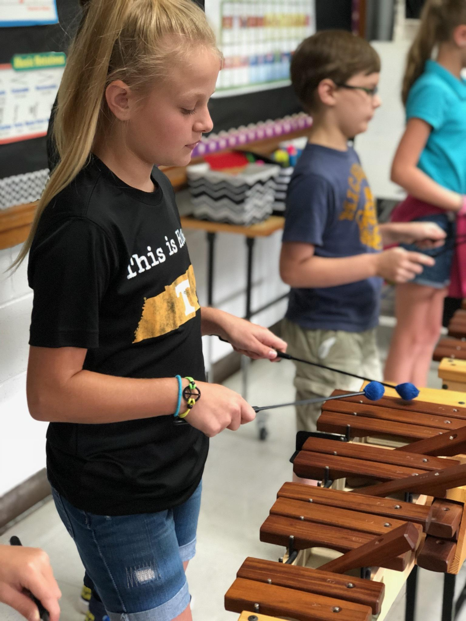 Hopewell Tigers Practicing Mallet Technique