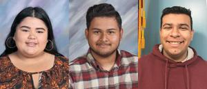 Ashlie Chaidez (left) from Baldwin Park High School, Anthony Anibal Delgado (middle) from Sierra Vista High School and G Negrete (right) from North Park Continuation High School are the appointed student board members for the 2018-19 academic year.