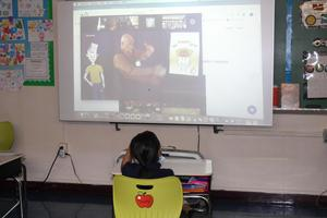 Video playing on smart board