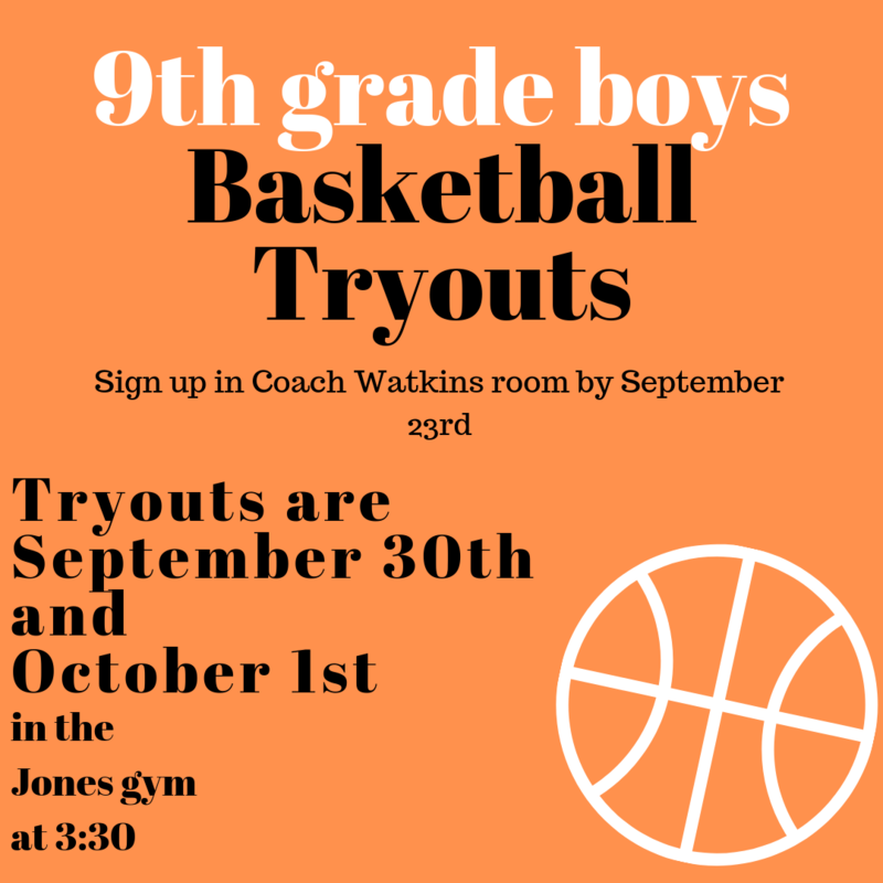 9th Grade Boys Basketball Tryouts