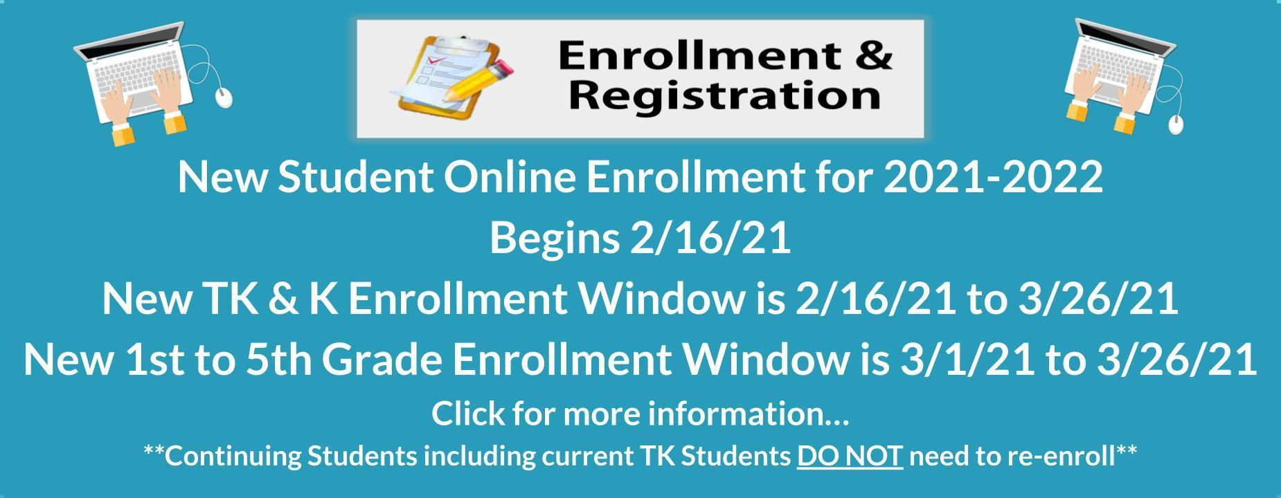 Enrollment starts 2/16/21