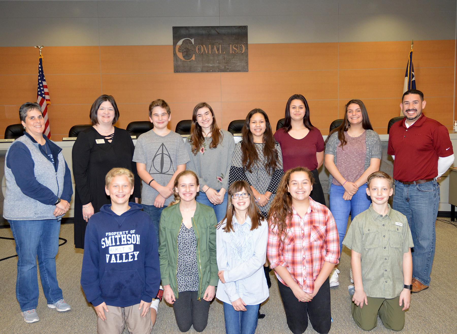 Finalists for Comal Speaks 2018 Competition