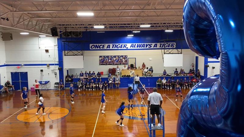 Volleyball Senior Night Photo