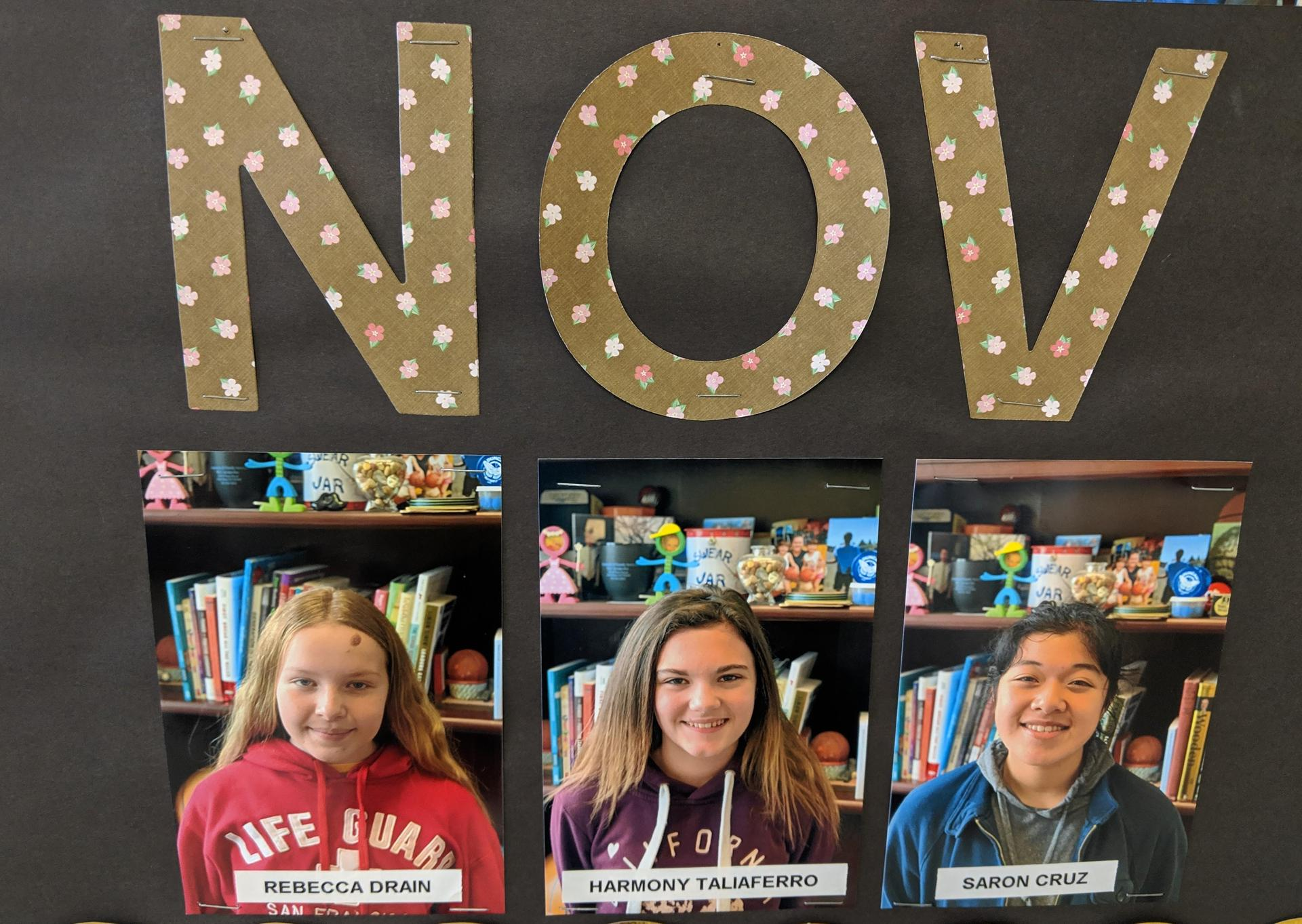 Nov students of the month