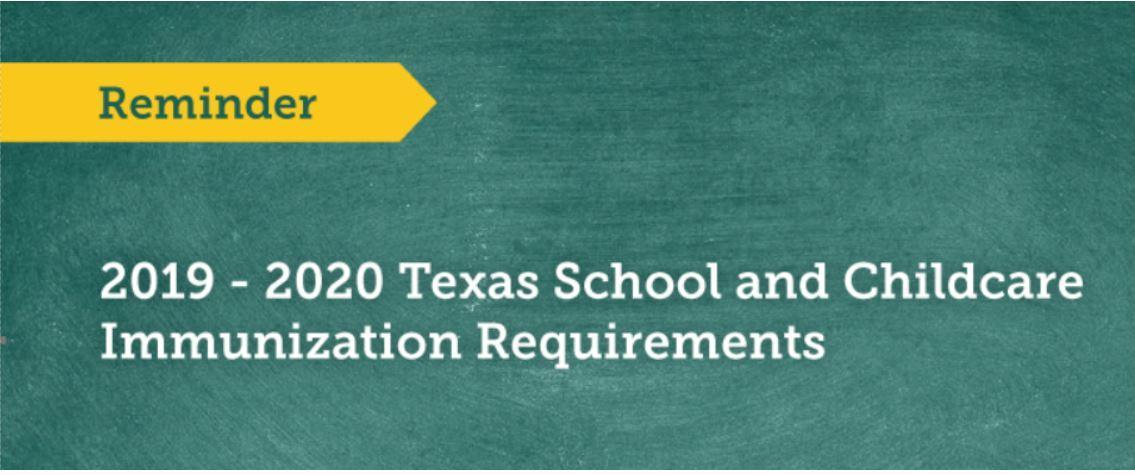 2019-2020 Texas School and Child Immunization Requirements