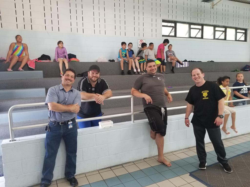 Mr. Celebrano, Jeff. gym teacher, Mr. Petric and another teacher