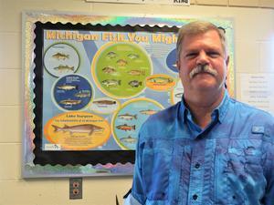 Thornapple Kellogg Middle School science teacher Shaun Davis.