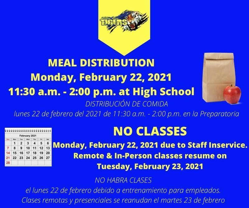 MEAL DISTRIBUTION AND NO CLASSES Thumbnail Image