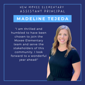 Announcement of new Moxee Elementary Assistant Principal