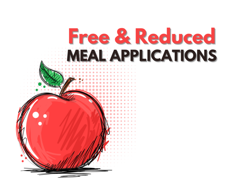 free and reduced meal application with apple