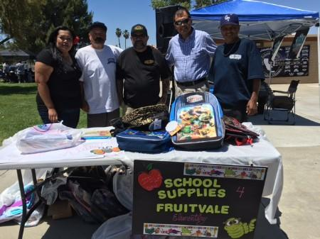 Donations to the school made by The Inland Empire Lowrider Alliance 6-12-16