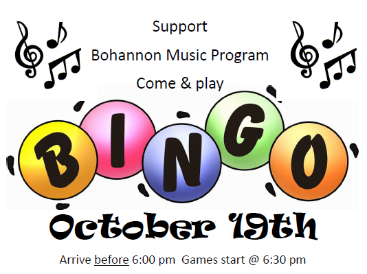 Bingo Music Booster - October 19th Featured Photo