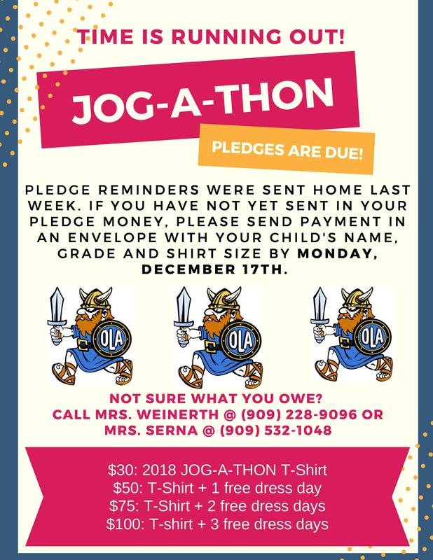 Have you turned in your Jog-a-Thon pledges? Click full story for more info. Thumbnail Image