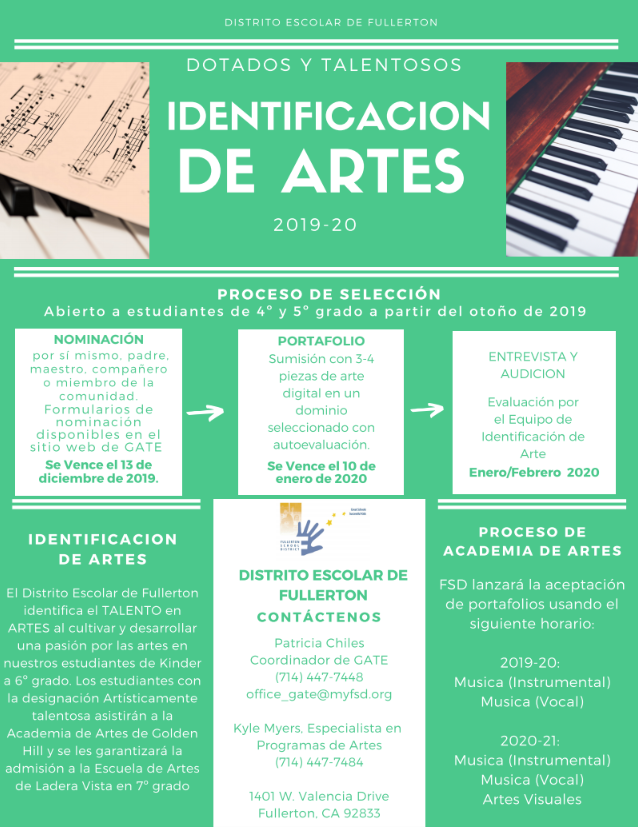 Spanish Arts Flyer