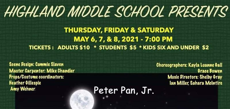 Peter Pan, Jr, the musical, presented by HMS