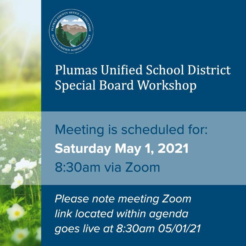 PUSD Special Board Workshop 5/1/21