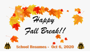 Have a great Fall Break!!! Featured Photo