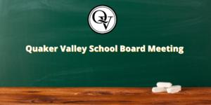 QV School Board Meeting