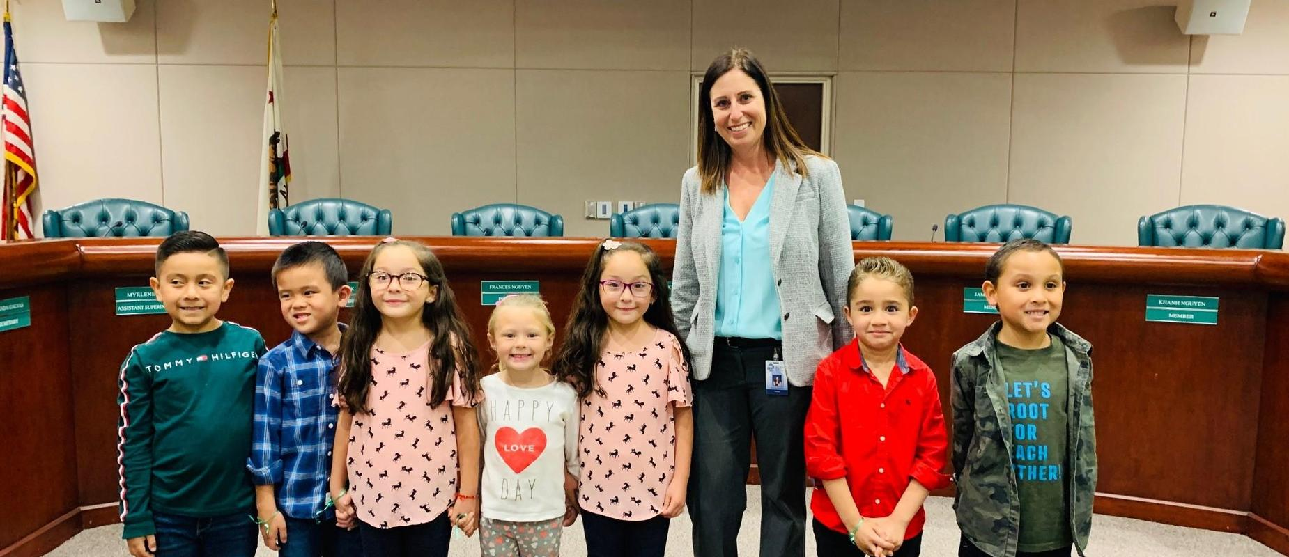 Fryberger Students present their PBLs at the board meeting.